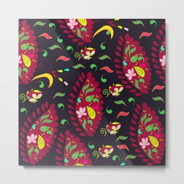 Colorful Paisley pattern #1 Metal Print