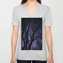 Barren Tree Branches Unisex V-Neck