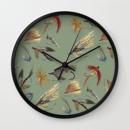 Fly fishing with hand tied lures! Wall Clock