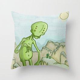 Big Ghoul Throw Pillow
