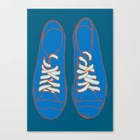 sneakers Canvas Prints featuring Sneakers by Sam Ayres