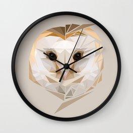 Barn Owl (Neutral) Wall Clock