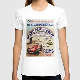 Gran Prix de LACF, Reims, 1959, original vintage poster T-shirt