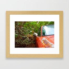 Abandoned Car Framed Art Print