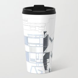 Composition Hand Drawing/Section,Plan,Elevation,Axonometric Travel Mug