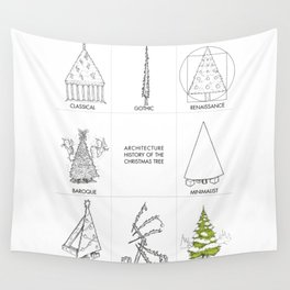 Architecture History of the Christmas Tree Wall Tapestry