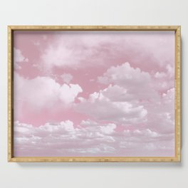 Clouds in a Pink Sky Serving Tray