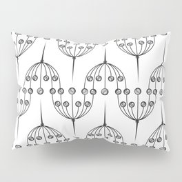 Abstract geometric pattern with floral elements Pillow Sham