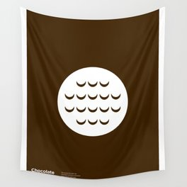 """""""Chocolate Hobnob"""" Biscuit poster Wall Tapestry"""