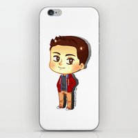 stiles stilinski iPhone & iPod Skins featuring Teen Wolf: Stiles Stilinski  by The Paper Monster