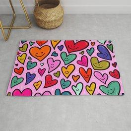 Smiling Heart Print Rug