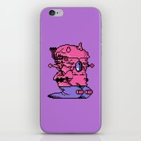 video game iPhone & iPod Skins featuring Double Slug - Video Game Project by Studio Momo╰༼ ಠ益ಠ ༽
