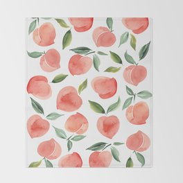 peaches Throw Blanket