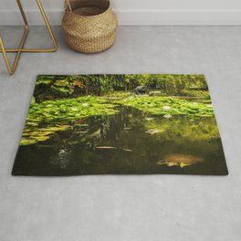 Turtle in a Lily Pond Rug