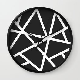 Black Earthquake Wall Clock