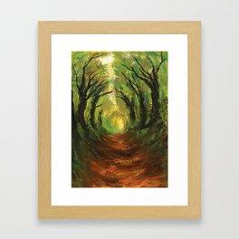 Hollow Way Framed Art Print