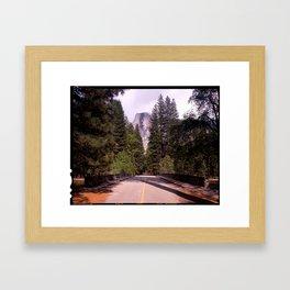 Ahwahnee Bridge, Yosemite Village Framed Art Print