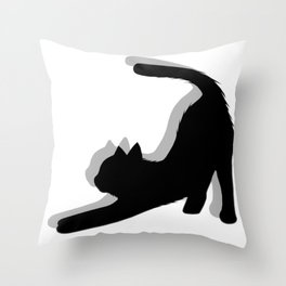 Cat with shadow V1, cat lover, cat mom Throw Pillow