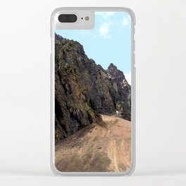 Rocky Crags above the Eureka Mine Clear iPhone Case