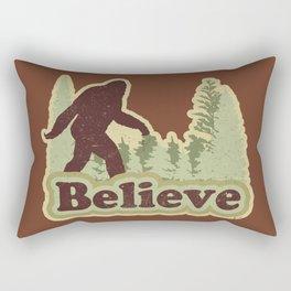 Bigfoot Believe Rectangular Pillow