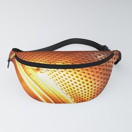 Orange machine abstract Fanny Pack