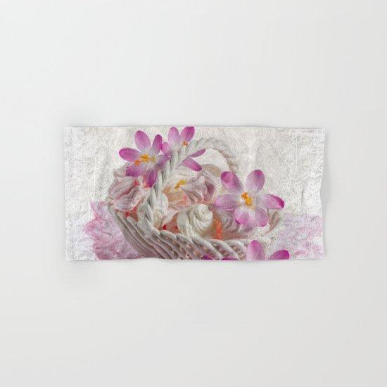 Pink floral Hand & Bath Towel