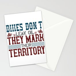 Bikes don't leak oil, they mark their territory Stationery Cards