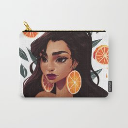 Orange Hoops Carry-All Pouch