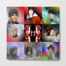 collage fashiondolls -01- Metal Print