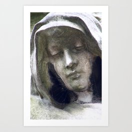 Woman in morning at Montparnasse Art Print