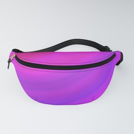 Neon Pink Blue Circles Fanny Pack