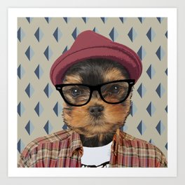 Dog vector Art Print