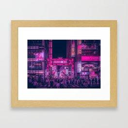 Pink Light District Framed Art Print