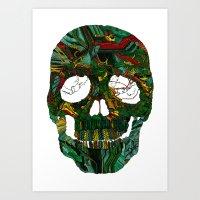 Skull No.7 Motherboard Art Print