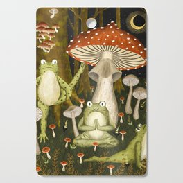 mushroom forest yoga Cutting Board
