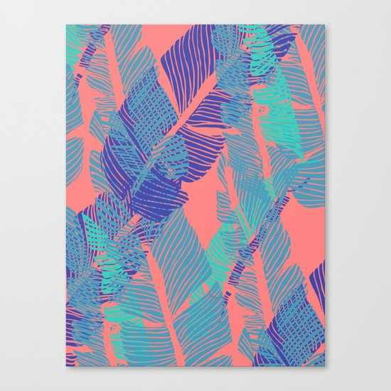 Carved Fluo Jungle #society6 #decor #buyart Canvas Print