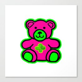 My Lucky Teddy jGibney The MUSEUM Magenta Society6 Gifts Canvas Print