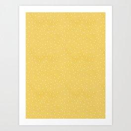 Sunny Dots Pattern Art Print