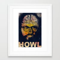 howl Framed Art Prints featuring Howl by Alec Goss