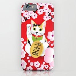 Sakura Maneki Neko iPhone Case