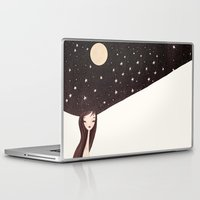 hat Laptop & iPad Skins featuring night hat by Renia