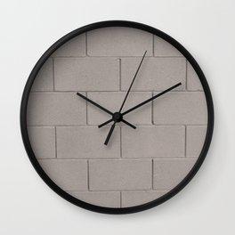 Muted Textures: Wall No. 1 Wall Clock