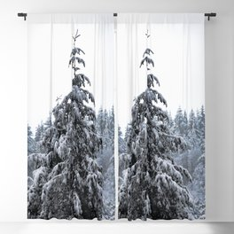 Winter Woods V - Snow Capped Forest Adventure Nature Photography Blackout Curtain