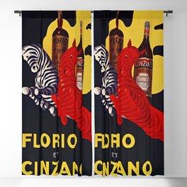 Florio CINZANO Vintage Ad 1930 Drink Poster Blackout Curtain
