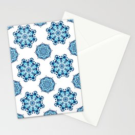 Round colorful mandala seamless pattern Stationery Cards