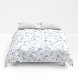 Blue Molecules Comforters