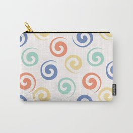 Spiral confetti polka dot pattern Carry-All Pouch