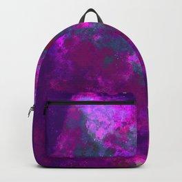"""Cellular Migration"" (Pink/Purple/Green) Digital Painting // Fine Art Print Backpack"