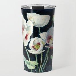 Crystal Dream and Reality, White Poppy Magic Travel Mug