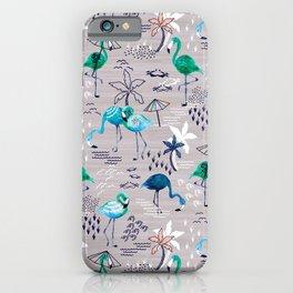 Frolicking Flamingos iPhone Case